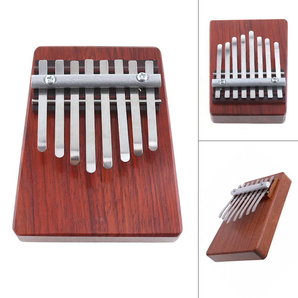 8 Keys Finger Piano Mbira Kalimba Thumb Traditional African Music Instrucments Childrens Toys Gifts