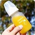 Biberón Mamadeiras 0-18 Meses Pequeña Botella de Cristal 150 ML PP de Cuidados de Enfermería de Alimentación Alimentador de Leche Jugo de Frutas 2016 Especial oferta