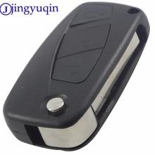 jingyuqin Remote Key Shell For Fiat Punto Ducato Stilo Panda Idea Doblo Bravo Keyless Fob Case 3 Buttons Car Alarm Cover