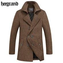 HEE GRAND 2017 New Winter Fashion Long Men Wool Blends Overcoat Office Man Coats Lana Abrigo Hombre MWN220