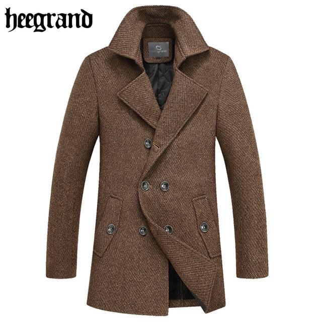 Hee grand 2017 nova moda inverno homens longos de lã combina sobretudo escritório homem casacos lana abrigo hombre mwn220