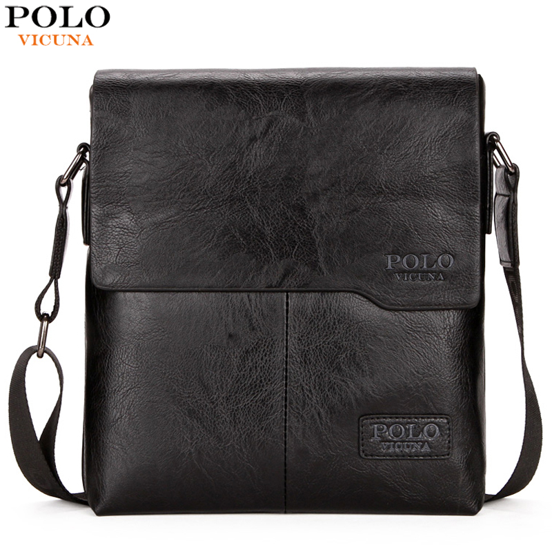 POLO VICUNA New Arrival Large Capacity Leather Mens Cross ...