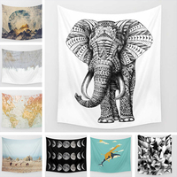 Bohemia Mandala Blankets Tapestry Elephant Home Decor Animal 3D Printed Wall Hanging Picture Tapestry Beach Towel