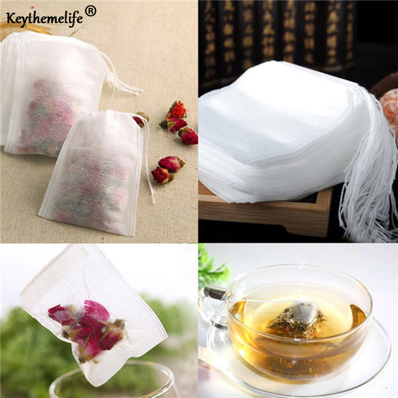 100pcs/set Teabags 5*7 6*8 7*9 8*10 9*10CM Tea Infuser Tea Strainers Herbal Spice Infuser Filter Paper Tea Bags A
