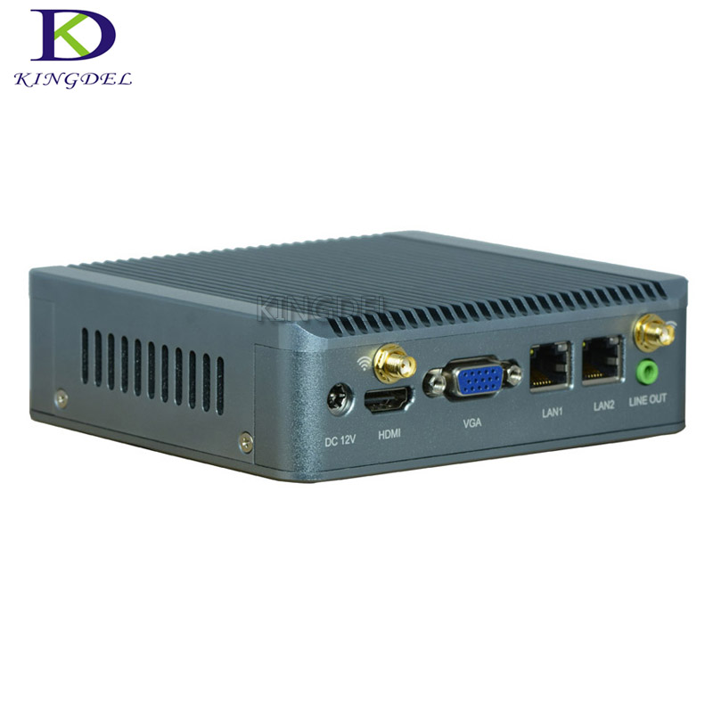 Fanless Mini PC Desktop Computer Office Mini Computer Celeron J1800 J1900 CPU HTPC TV Box Gaming PC Thin Client