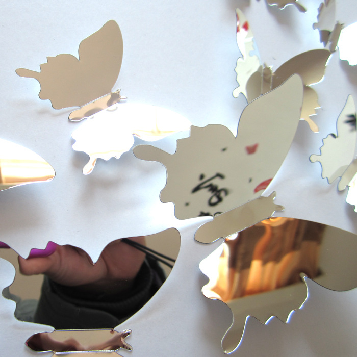 Sliver Butterfly Wall Stickers 2