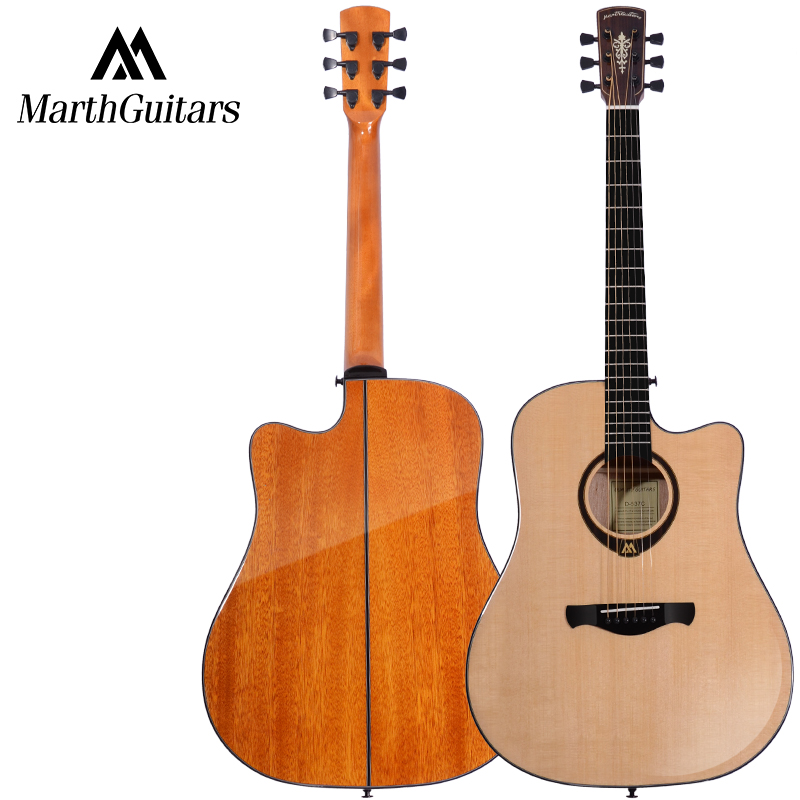 Solid Spruce Top Sapele Back and Side Rosewood Fingerboard Acoustic Guitar 41 Acoustic Guitarra Free Shipping with Case high quality solid wood guitar 41 inch spruce wood panel acoustic guitar guitarra free shipping