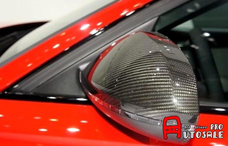 Для Ауди А6 С7 2012 - 2015 правда углеродного автомобиль зеркало заднего вида крышки отделки наружных частей автомобиля 2шт
