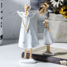 2 pcs Cute Fairy Angel Home Ornament Bedroom Living Room Decorations Craft Creative Lovely Small Miniature Figurine