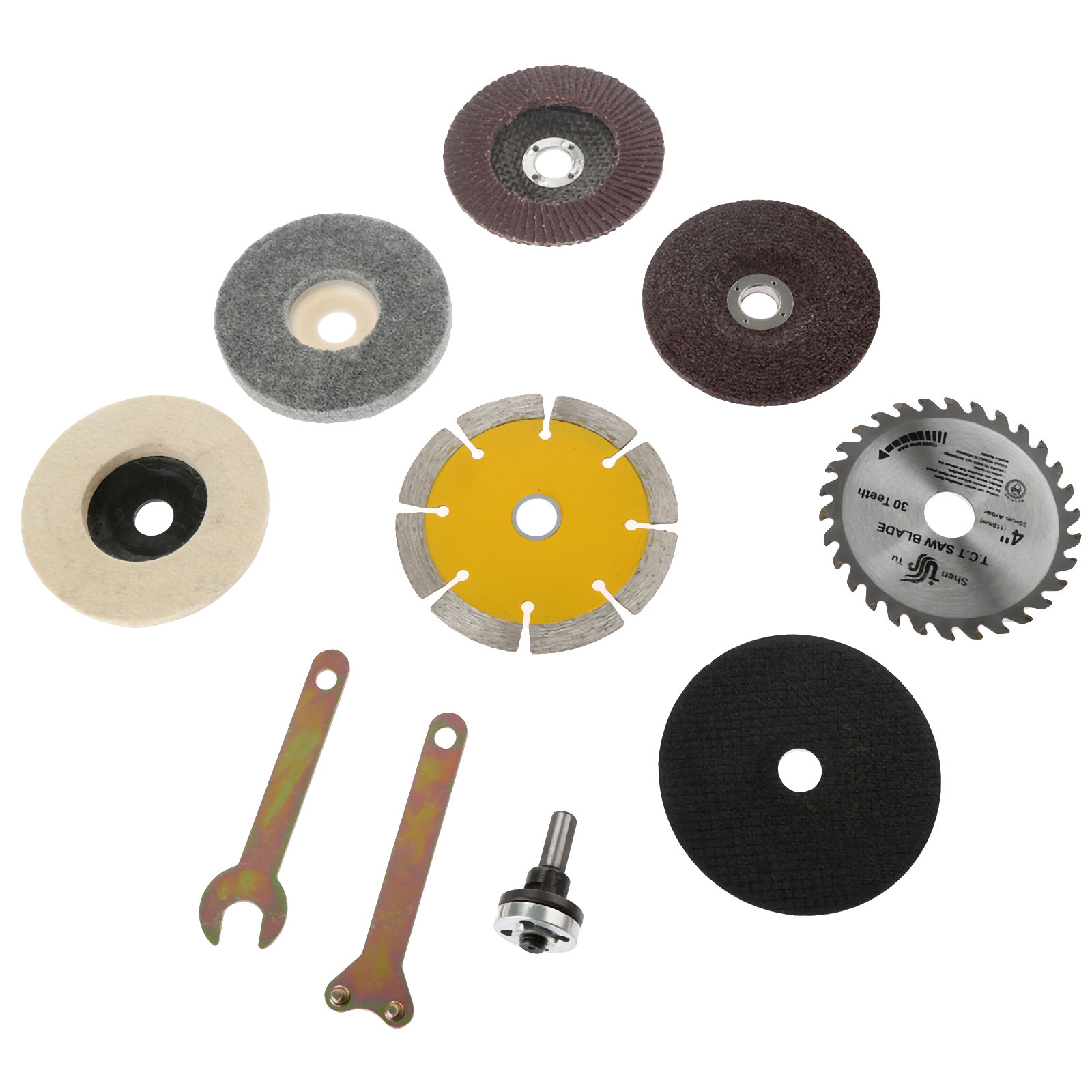 10Pcs Conversion Shank Accessories Spanner Drill Metal Cutting Polishing Pad Marble Grinding Wheel Saw Blade for Electric Drill in Power Tool Accessories from Tools