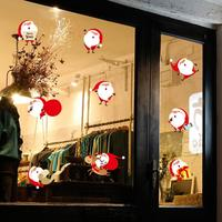 Homey Design Wall Stickers Christmas Santa Claus Removable Furniture Vinyl Window Wall Sticker Decoration 17a17