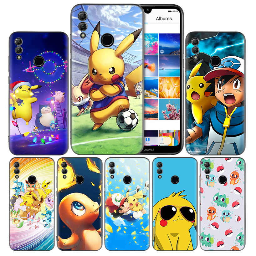 Coque pokemons go capinh Black Silicone Case Cover for