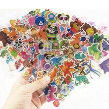 100 листов Детский мультфильм 3D объемные наклейки/дети автомобили цветы выпуклые наклейки для детского сада награда обучающая игрушка без повтора