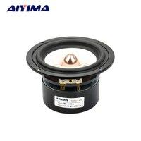 1Pcs 4 Inch Audio Speakers Full Range Loudspeaker Bullet Speaker Professional Fever Hifi Speakers 4Ohm 15W