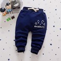2017 spring models infants and young children pants Korean fashion casual cartoon cat 0-3 years old boys and girls trousers