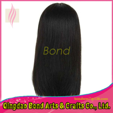 130% Density Brazilian Human Hair Lace Front Wigs with bang Straight Glueless Full Lace Human Hair Wigs For Black Women