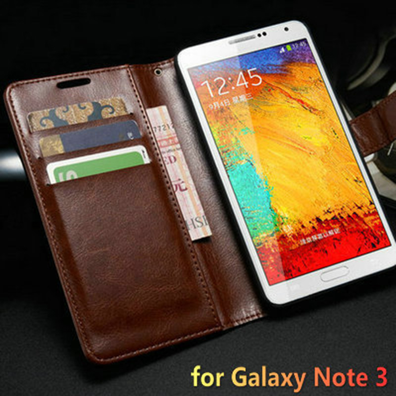 Vintage Wallet with Stand PU Leather Case for Samsung
