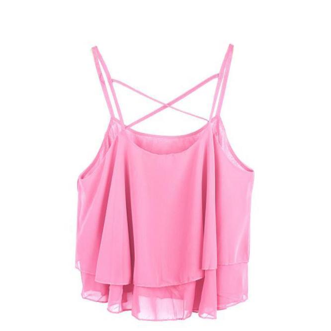 Fine Women Irregular Summer Strap Floral Print Chiffon Shirt Vest Bandage Swimwear Cut Out Swimsuit Retro Halter Bikini 1 Women's Clothing