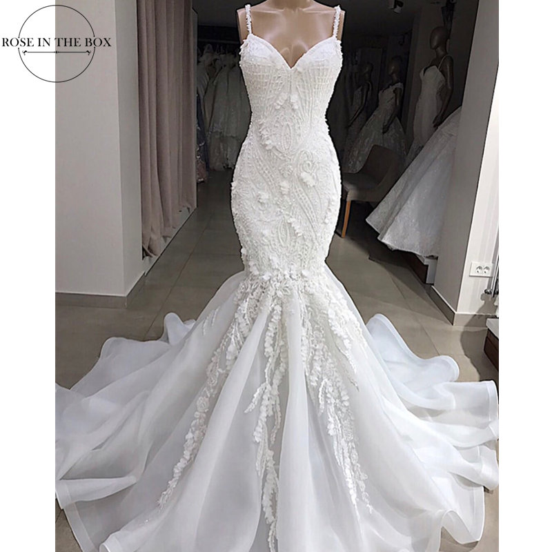 Vestidos De Novia 2019 Sexy Backless Mermaid Wedding Dress Handmade Beaded Wedding Gowns Lace Appluques Bridal Dress Gelinlik