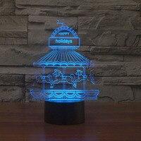Изменение цвета ночник и дети 3D Led Настольная лампа домашний декор сенсорный выключатель USB новинка свет горячая распродажа