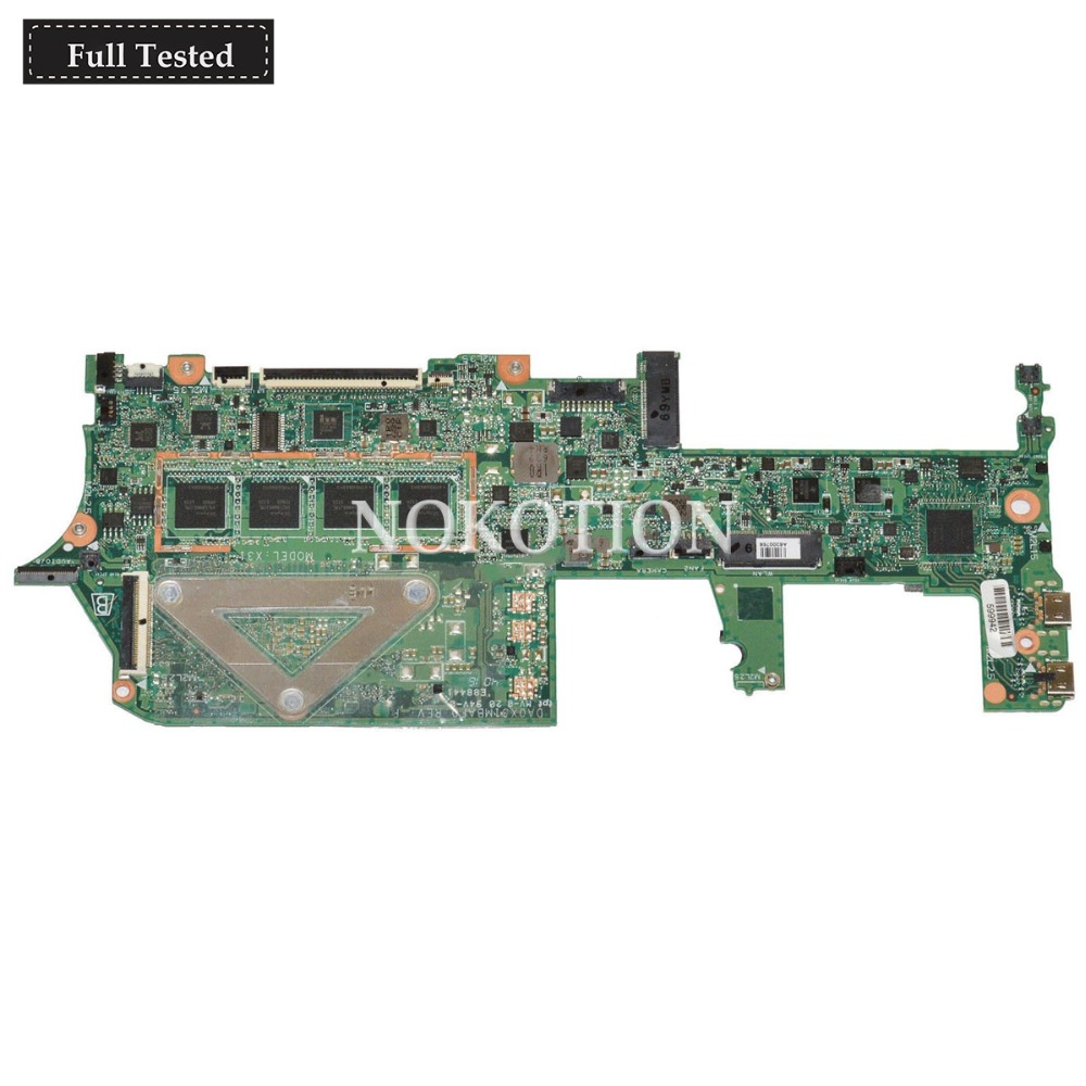 NOKOTION V601 DA0X31MBAF0 907559 001 Main board FOR HP 13 W Laptop Motherboard 8GB WITH i7