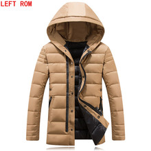 2017 New Arrival Brand Clothing Winter Men Cotton Winter Warm Regular Formal Jackets And Coats Hooded fashionable parkas