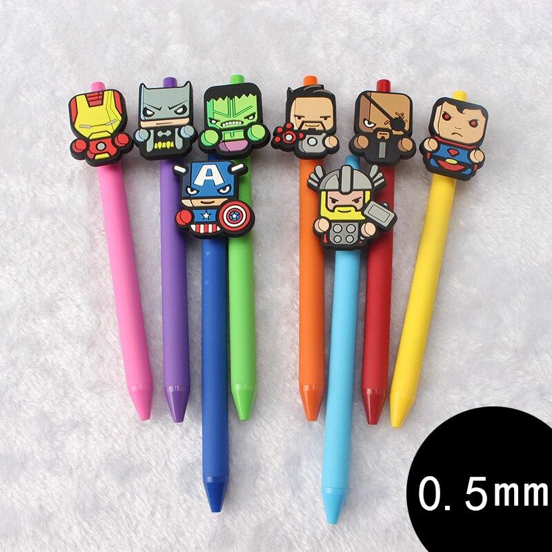 8 pcs/Lot Cartoon Gel pen Cute Captain America 0.5mm black i