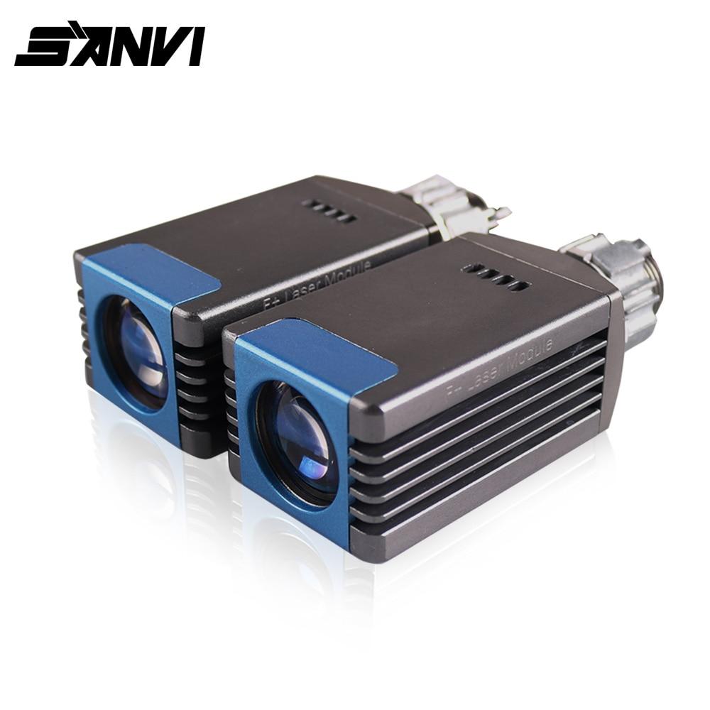 Sanvi 2pc Laser Projector Lens Headlight 12V 6000K High Beam Laser Headlight H7 9005 9006 Headlight  Retrofit Free Shipping
