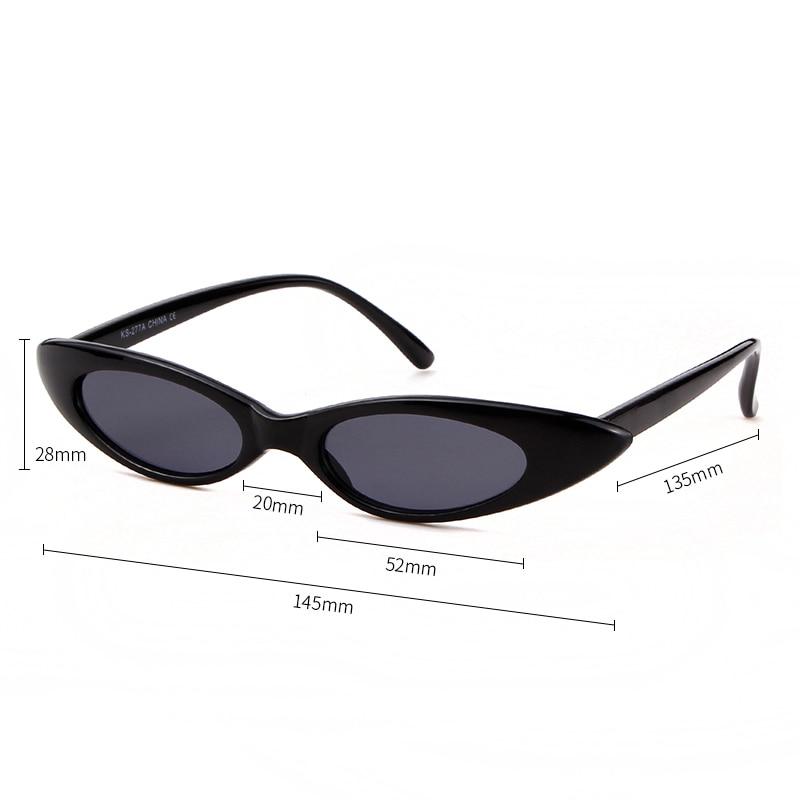 e6878363fc0a2 WHO CUTIE 2018 New Small Cat Eye 90s Sunglasses Women Vintage Peak ...