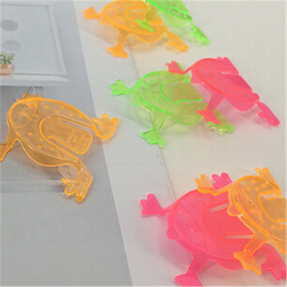 10PCS 4.3*4.3cm Jumping Frog Hoppers Game Kids gift toys Birthday Party Toys for Girl Boy Goody Bag Pinata Fillers Wholesale