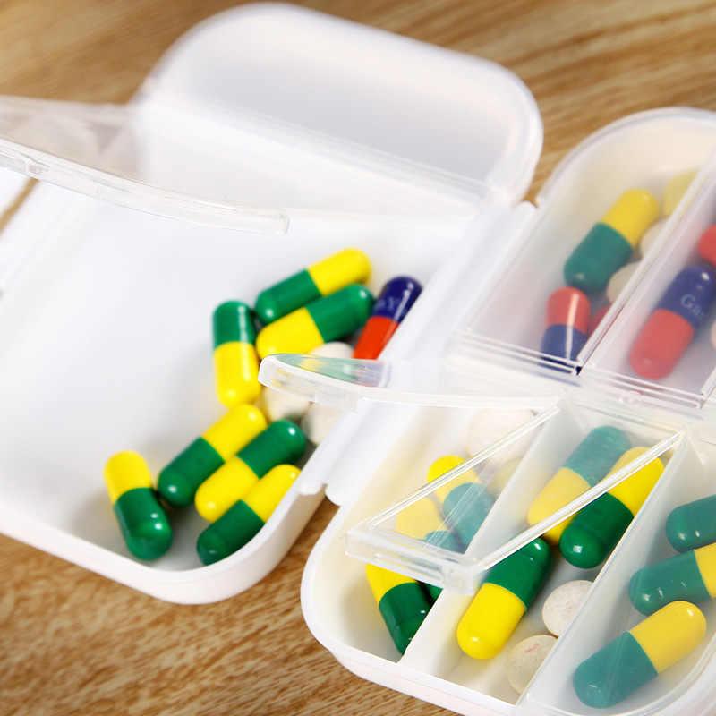 8 分割薬ボックスミニ丸薬オーガナイザー容器錠スプリッタ収納ディスペンサー毎週ピルボックス Pillendoosje