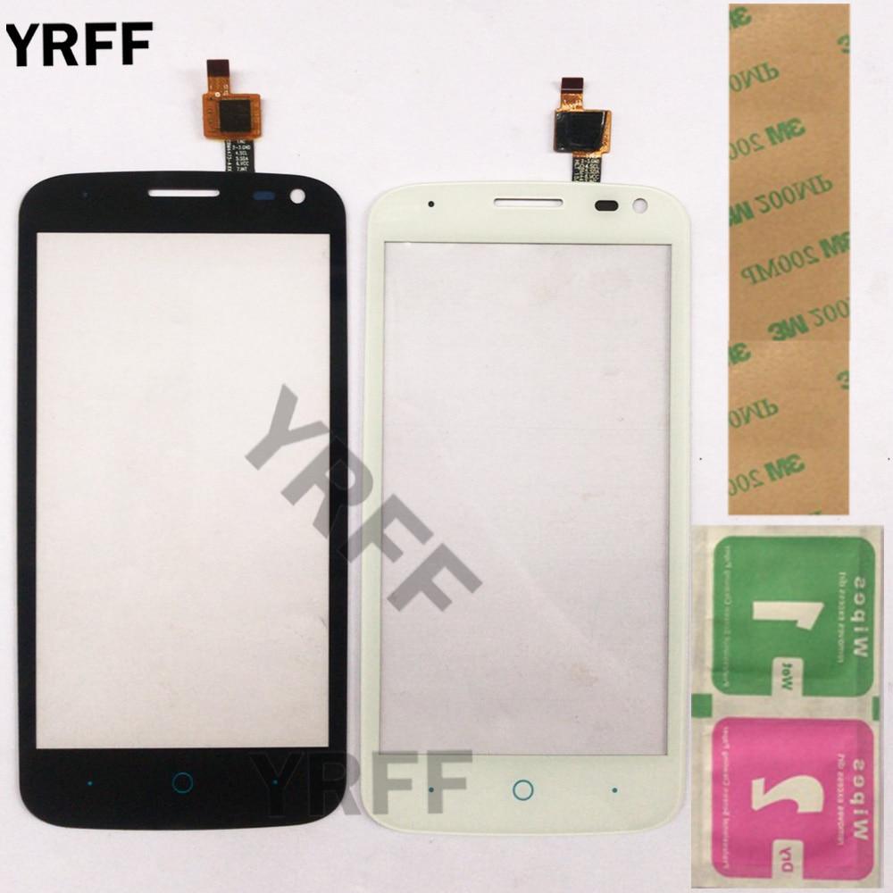 """4.5 """"écran tactile d'écran tactile de téléphone pour ZTE Blade Q Lux/Qlux 3G 4G écran tactile avant verre capteur lentille numériseur panneau 3M colle"""