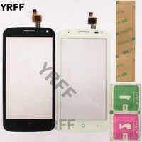 """4,5 """"Telefon Touch Panel Touchscreen Für ZTE Blade Q Lux/Qlux 3G 4G Touch Screen Front glas Sensor Objektiv Digitizer Panel 3M Kleber"""