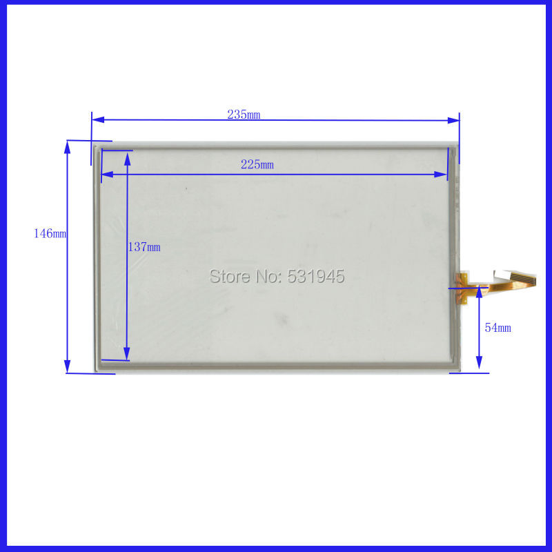ZhiYuSun 10.2 inch 235*146  4 wire TOUCH SCREEN    the glass touch for table  this is compatible 235mm*146mm  XWT890 amt 146 115 4 wire resistive touch screen ito 6 4 touch 4 line board touch glass amt9525 wide temperature touch screen