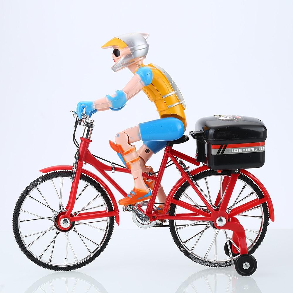 Elettrico carino musica illuminazione bicicletta giocattoli di plastica novità dito funzionale bicicletta bici giocattoli per i bambini regalo dei bambini