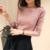 2017 Otoño Invierno suéter de cachemira de las mujeres de moda atractivo del o-cuello de las mujeres suéteres jersey de manga Larga caliente de Punto OH100