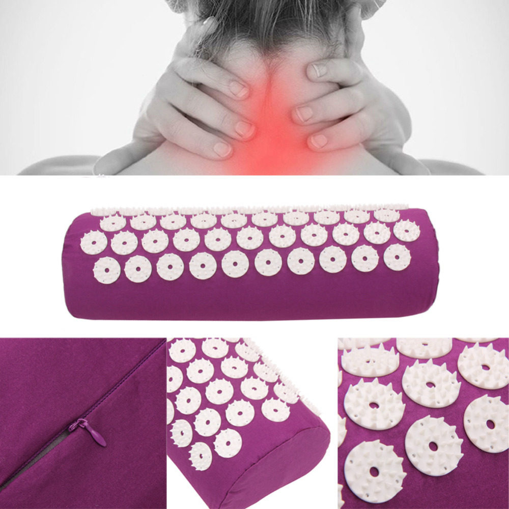 1pc Acupressure Massage Pillow Stress Neck Pain Relief Treatment Tension for Neck Head Massager PVC Cotton Health Pillow1pc Acupressure Massage Pillow Stress Neck Pain Relief Treatment Tension for Neck Head Massager PVC Cotton Health Pillow
