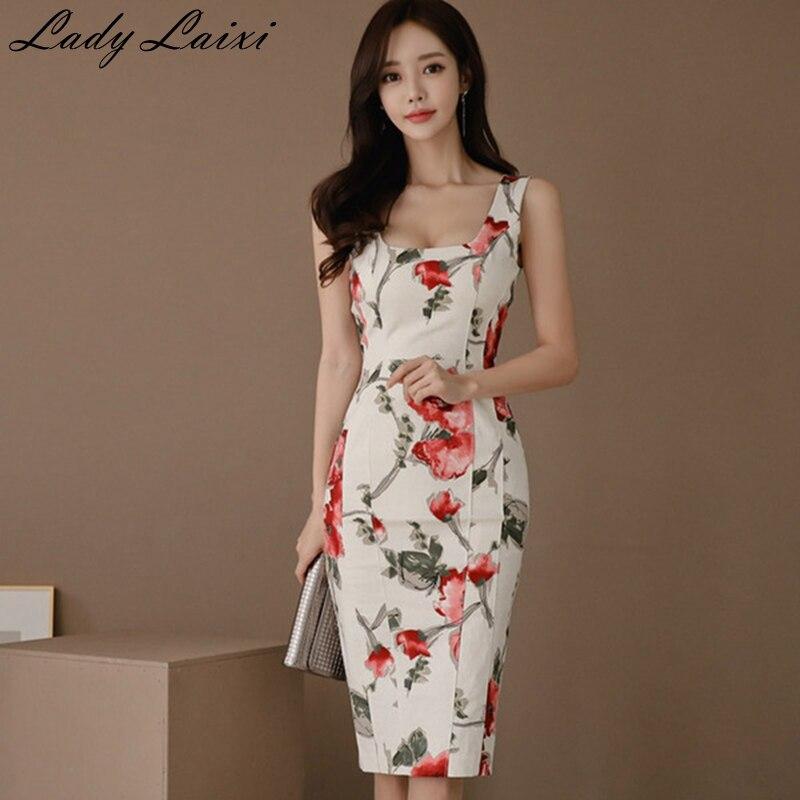 5efcad0dac92103 2019 новое летнее платье-футляр без рукавов с квадратным вырезом, женские  элегантные сексуальные офисные вечерние платья, модные облегающие .