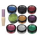 Face Body Painting Kits Pearl Glitter Diamond Powder 10Colors + 1pcs Special Glue Tattoo Drawing Painting Art Makeup Tools