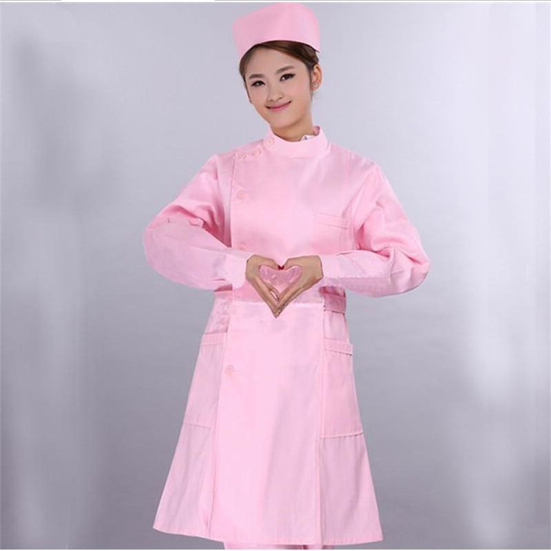 mundury szpitalne zarośla pielęgniarskie odzież medyczna fartuch biały / pielęgniarka kombinezon pielęgniarski Odzież medyczna / damska bluzki fit