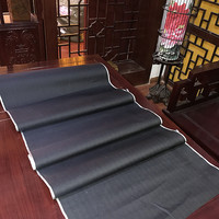 Free Ship Unique Chinese 1972 Special Products 100 Silk Dark Navy Fabric Price For 1 Meter