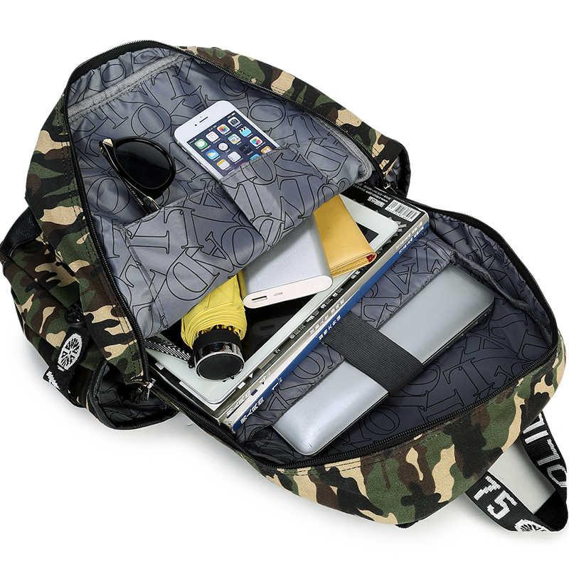 AOLIDA Merek Desain Ransel Kamuflase Tas Travel Tas Sekolah Tas Untuk Remaja Untuk Kuliah Unisex Backpack Rucksack Daypack