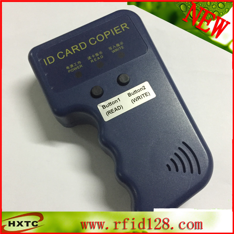 Handheld 125Khz RFID Copier/ Portable ID Card Cloner/ ID Card Copy writer + 10pcs EM4305/T5577 RFID Tag Free Shipping super handheld rfid nfc card copier reader writer cloner with screen 5pcs 125khz writable tag 5pcs 13 56mhz uid changeable card