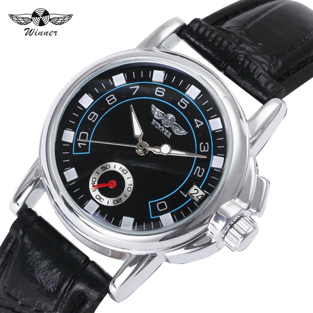 WINNER Brand 2018 Ladies Automatic Watches New Fashion Women Mechanical Wristwatches Calendar Date Female Business Clock +BOX