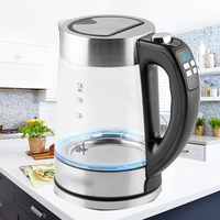 1.8L Glass electric kettle off Automatically glass anti scalding temperature controlled insulation electric kettle household