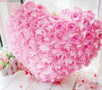 99rose flowers heart love plush pillow large three dimensional rose 99rose flowers heart love plush pillow large three dimensional rose of love pillow doll plush toy cushion birthday gift 4035cm in cushion from home mightylinksfo