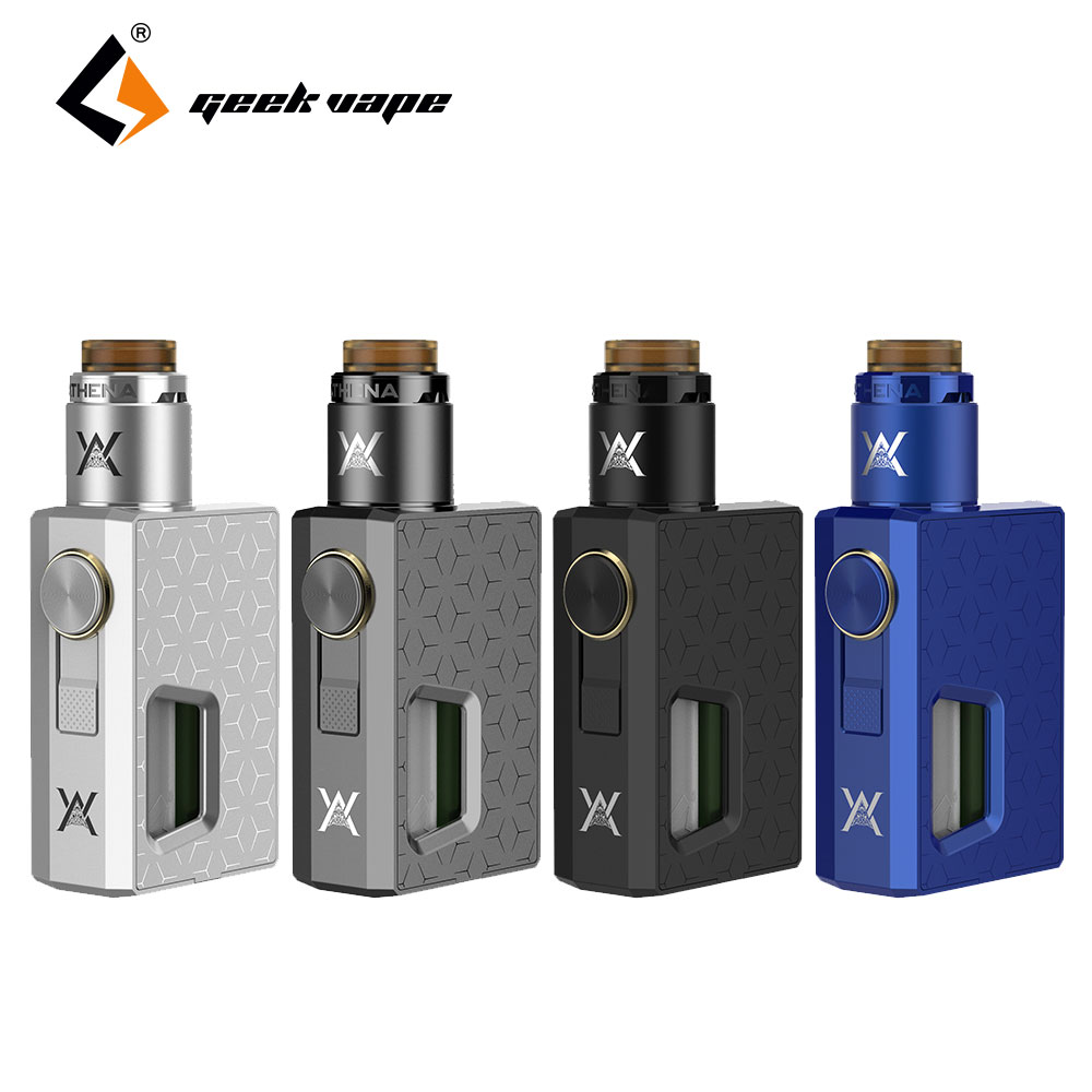 100% Original GeekVape Athena Squonk Kit & Athena Squonk RDA Tank Atomizer with Squonk Bottle 6.5ml E-cig Vape Kit for DIY Fans yiloong vape geyscano bf rda