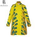 2016 мода воск печати хлопок пыли пальто воротник женщин смирительную рубашку с тканью