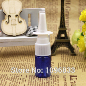 100pcs/Lot, 5ML Nasal Spray Bottle, Medical Spray Bottles with flat shouler, PET Plastic atomizer, Blue Cosmetic Spray Bottles