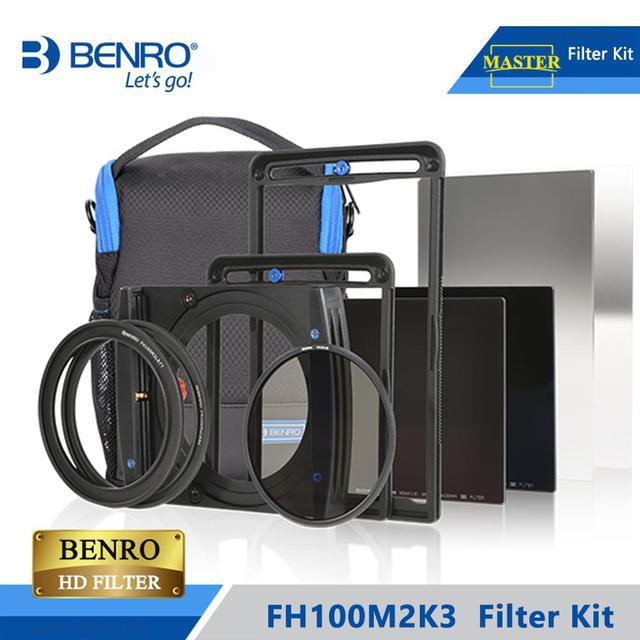 Benro FH100M2K3 100mm filtre Kit système ND/GND/CPL filtre tenir Support pour plus de 16mm large ange lentille DHL livraison gratuite